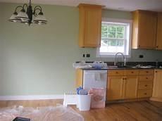 paint color to go with oak cabinets colour pinterest