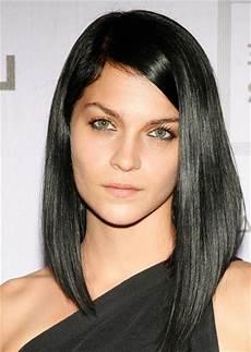 hairstyles neat asymmetrical medium length for