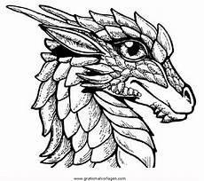 ausmalbilder fantasie drachen drachenkopfe 1 gratis malvorlage in drachen fantasie