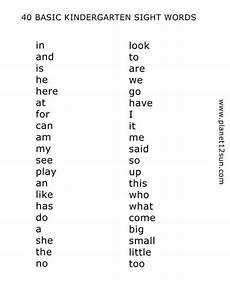 kindergarten worksheets pdf printables basic sight words