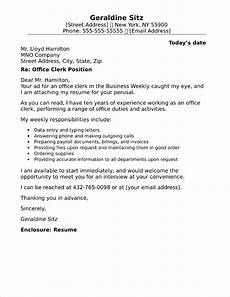 cover letter sle office clerk general office clerk cover letter