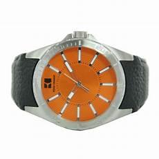 hugo orange herren uhr leder 1512870