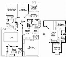 house plans with inlaw apartment separate in law suite home with 4 bdrms 2567 sq ft floor plan