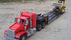 lego technic american truck with trailer