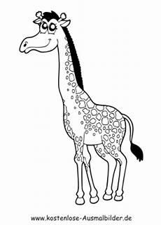 kostenlose ausmalbilder ausmalbild giraffe 1