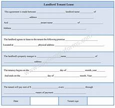 landlord tenant lease form