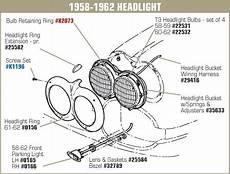 1 29416 58 62 harness headlight bucket extensions 2 piece