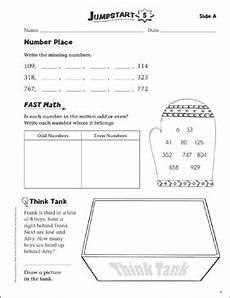 independent practice grade 3 math jumpstart 5 printable skills sheets