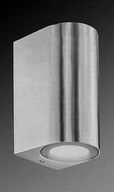 brushed aluminium up down exterior wall light outdoor ebay