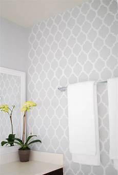 bathroom wall stencil ideas diy bathroom makeover