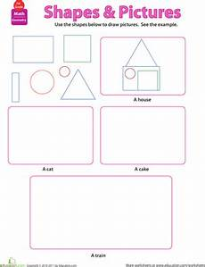 shapes and pictures worksheet education com
