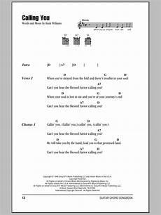 calling you sheet music hank williams guitar chords lyrics