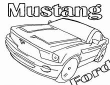Ford Mustang Shelby Cobra GT 500 Coloring Pages