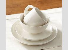 Joshua Dinner Plate, Set Of 4   Ivory White   Pottery Barn