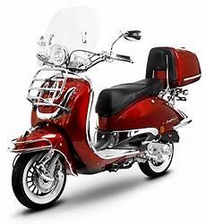 Retro Roller Easy Cruiser Chrom 125 Ccm Weinrot