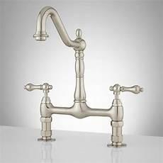 kitchen bridge faucets signature hardware douglass bridge kitchen faucet with lever handles ebay