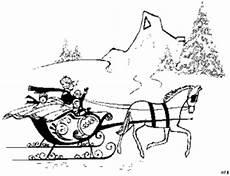 Ausmalbilder Pferde Im Winter Pferd Mit Schlitten Ausmalbild Malvorlage Gemischt