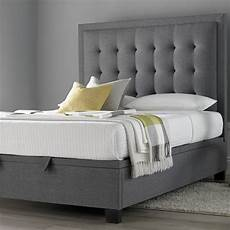metro grey ottoman fabric bed 4ft6 double bedroom furniture grey bed frame fabric ottoman