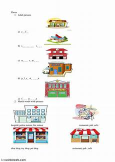 places in my city worksheets 15968 places interactive worksheet