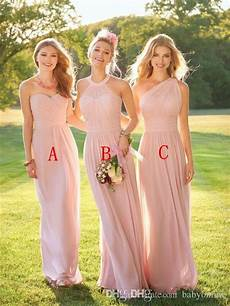 robe pale demoiselle d honneur 2017 blush pink country style bridesmaid dresses