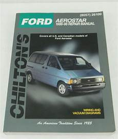 car manuals free online 1990 ford aerostar windshield wipe control chilton s total car care repair manual ford aerostar nineteen eighty five to nineteen ninety