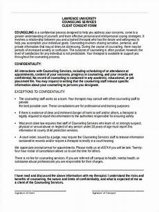 free 8 counseling consent forms in pdf ms word