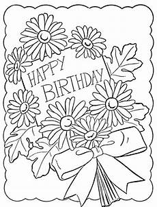 therapy coloring page happy birthday flowers 7