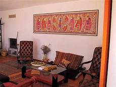 Traditional Ethnic Indian Home Decor Ideas by Traditional Indian Homes With Large Paintings