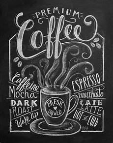 premium poster frischer kaffee kreidetafel designs auf