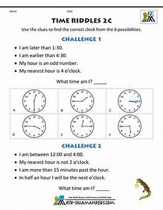 riddle math worksheets printable 10923 printable time worksheets time riddles easier