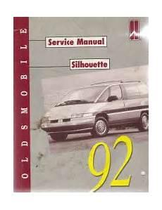 car repair manuals download 1993 oldsmobile silhouette spare parts catalogs 1992 oldsmobile silhouette factory service manual