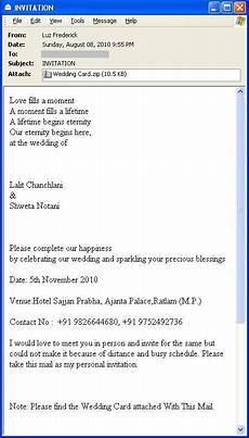Inviting For Wedding Through Email