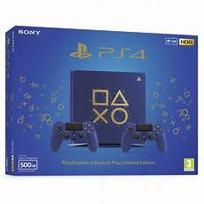 shop ps4 console sony ps4 console slim 500gb e chassis days of play blue