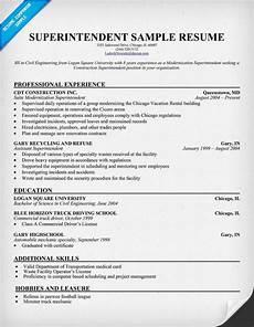 superintendent resume resumecompanion com police