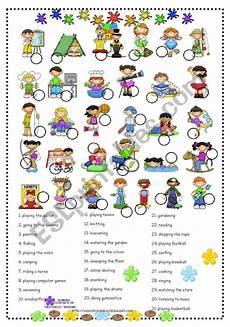 free time activities esl worksheet by olindalima f