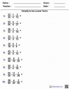 fraction homework help sheets year 7
