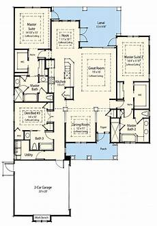 ranch style house plans with two master suites plan 33094zr dual master suite energy saver in 2020