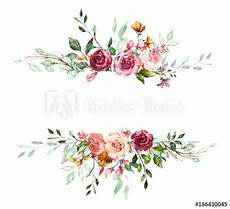 flower card design template vintage card watercolor wedding invitation design with
