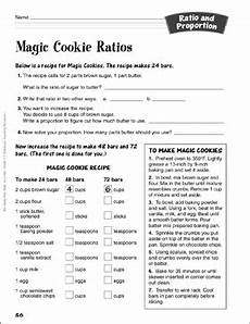 magic cookie ratios ratio and proportion activity printable lesson plans ideas and skills sheets