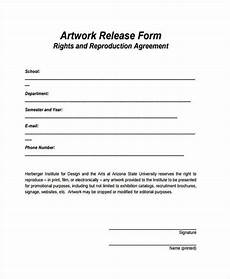 artwork release form free 8 sle artwork release forms in pdf word