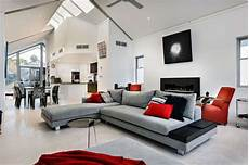 wohnzimmer rot grau living modern black white living room modern
