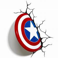 15 ideas of 3d wall art captain america light