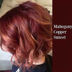 mahogany copper sunset hair hair coloring
