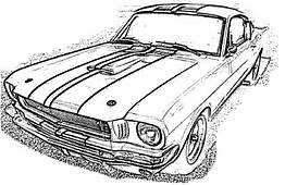Classic Ford Mustang Car Coloring Pages  Best Place To Color