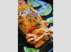 salmon with honey and mustard glaze
