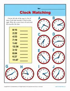 free printable telling time worksheets 3rd grade 3687 clock matching 3rd grade telling time worksheets