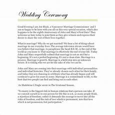 Outdoor Wedding Ceremony Script