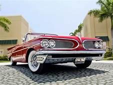 1959 Pontiac Bonneville Custom Convertible Retro Wallpaper