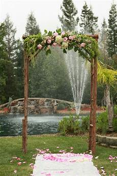 rustic simple wedding arch ceremony frames pinterest