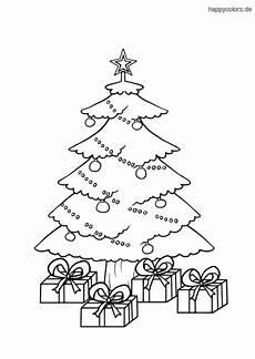 Ausmalbild Weihnachtsbaum Geschenke Weihnachtsbaum Mit Geschenken Ausmalbild Ausmalbilder